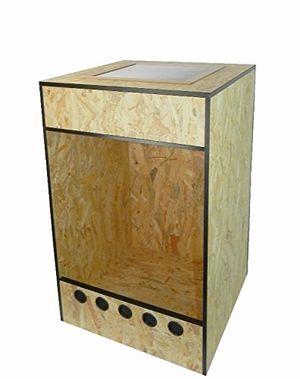 Buy terrabasic repcage 50x50x80 frontbelüftung gazedeckel schwarze abs kanten