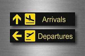 akacha aufkleber sticker auto sign flughafen arrival departure flugzeug luftfahrt pilot