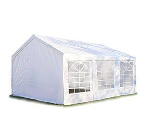 hochwertiges partyzelt 3x6 m pavillon zelt 240gm² pe plane gartenzelt festzelt bierzelt wasserdicht weiß