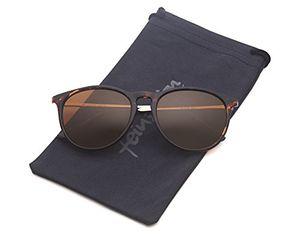 Top vintage sonnenbrille im angesagtem 60er style mit trendigen bronzefarbenden metallbügeln leopardenmuster