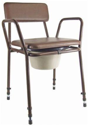 ofertas para - aidapt essex silla sanitaria ajustable color negro y marrón