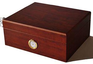ofertas para - germanus humidor de puros classicus ii con higrómetro y humidificador y el manual germanus libro en marrón
