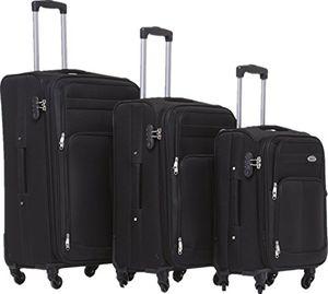 Angebote für -beibye 4 rollen reisekoffer 3tlgstoffkoffer gepäck koffer trolley set xl l m in 7 farben schwarz set
