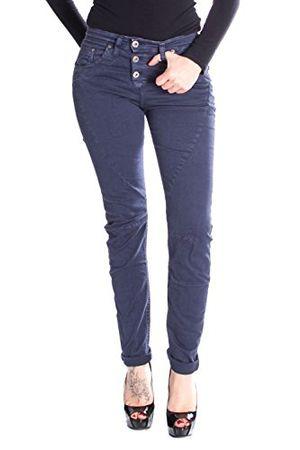 please frauen jeans high waist slim fit schlank p15 s blau