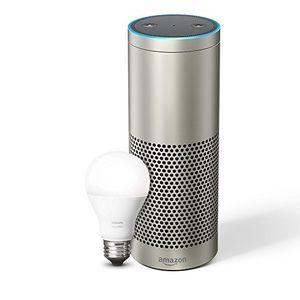 photos of Wir Stellen Vor: Echo Plus   Mit Integriertem Smart Home Hub (silber)   Inklusive Philips Hue White E27 LED Lampe Vor Dem Kauf Kaufen   model Amazon Home