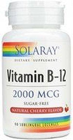 Vitamina B12 90 comprimidos de 2000 mcg de Solaray Con Descuento