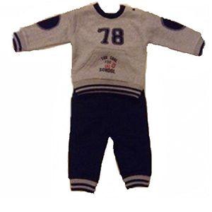 Buy babybol baby jungen 0 24 monate sweatanzug grau grau gr 12 monate grau