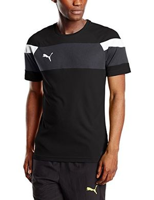 deals for - puma herren t shirt spirit ii training jersey black white l 654655 03