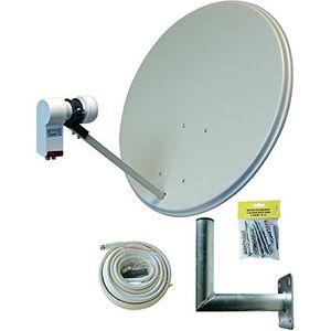 allvision 9100570 sah s 160 twin set satellitenspiegel lichtgrau