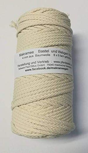 deals for - makrameegarn makramee baumwollgarn bastelgarn natur 200 meter 4 mm