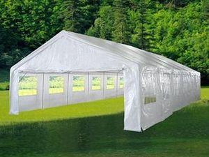 Angebote für -hochwertiges festzelt partyzelt bierzelt gartenzelt pe pavillon stabil wasserdicht 6 x 12 m weiß