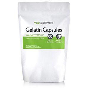 ofertas para - your supplements cápsulas de gelatina vacías tamaño 00 1000 piezas