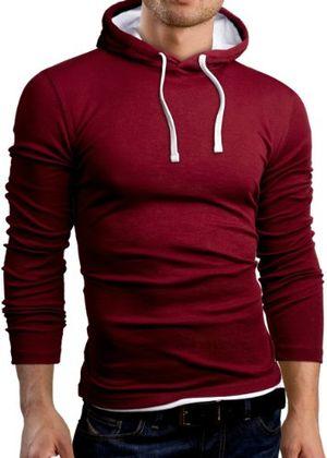 Angebote für -grinbear slim fit t shirt langarm hemd burgund größe m