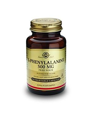Solgar L-Fenilalanina 500 Mg - 50 Cápsulas guía del comprador