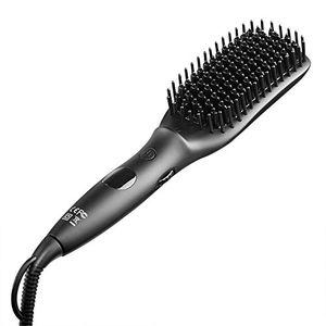 ofertas para - cepillo alisador electrico de cabello elfina peine alisador con tecnología de calentamiento mch peine eléctrico iónico con opciones de temperatura ajustables y protección de sobrecalentamiento apropiado para alisamiento y suavizado de cabello largo