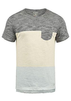 Top blend johannes herren t shirt kurzarm shirt mit rundhalsausschnitt aus 100 baumwolle