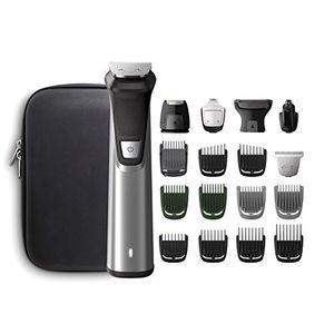 ofertas para - philips multigroom series 7000 mg777015 afeitadora recargable negro plata rectángulo barba oído ceja moustache nariz 300 min integrado batería
