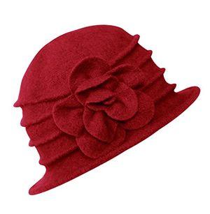 Angebote für -damen vintage bucket hut wintermütze beret 2 rot