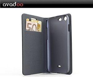 Angebote für -avadoo® wiko stairway flip case cover in schwarzrot mit magnetverschluss als cover tasche hülle