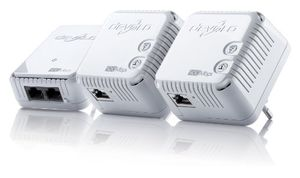 devolo dlan 500 wifi network kit powerline 500 mbits internet über die steckdose 300 mbits über wlan 1x lan port 3x powerlan adapter wlan adapter wlan booster wifi move weiß