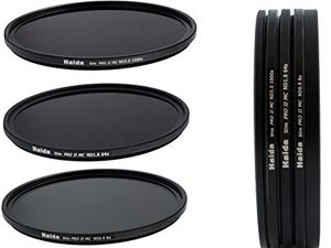 deals for - haida slim pro ii digital mc neutral graufilter set bestehend aus nd8 nd64 nd1000 filtern 67mm inkl stack cap filtercontainer pro lens cap mit innengriff