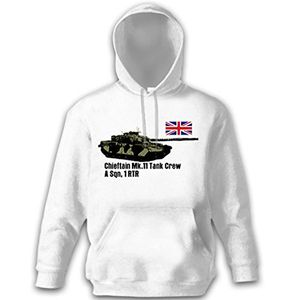 deals for - chieftan mk 11 tank crew a sqn 1 rtr england panzer großbritanien panzerbesatzung uniform royal army panzer kapuzenpullover pullover hoodie weiß xxl 12925