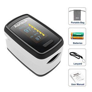 ofertas para - asrisuk oxímetro de pulso pulsioxímetro de dedo oxímetro pulsioximetro digital lector de pulso digital de lectura instantánea sensor de oxígeno y monitor de frecuencia de pulso incluidos funda y cordón