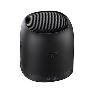 aukey mini bluetooth lautsprecher mit radio mikro sd karte slot und metallgehäuse tragbare radio box mit 35mm audio eingang für iphone samsung echo laptops und mehr