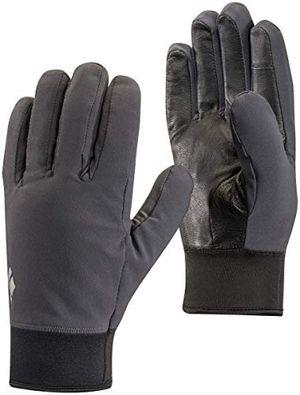 black diamond midweight softshell handschuhe aus stretch gewebe warme touchscreen geeignete fingerhandschuhe für outdoor aktivitäten unisex smoke größe s