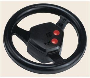 rolly toys spielzeug lenkrad rollysoundwheel mit hupe und motorgeräusch passend für alle rolly toys traktoren schwarz 409235
