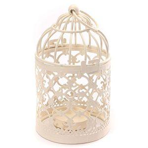 hosaire 1x kerzenhalterleuchter mode vogelkäfig design metall kerzen kerzenhalter haushalt dekoration8 x 14 cm