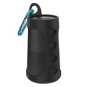 Top silikon tasche für bose revolve aresko einfach reise tragen silikon hülle case cover für bose soundlink revolve bluetooth lautsprecher schwarz