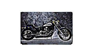 deals for - fxstc 1340 motorbike a3 sign aluminium metal retro bike