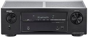 denon avrx520btbke2 52 av receiver 4k ultra hd 5x hdmi 3d 4k hd master 5x 130 watt bluetooth schwarz