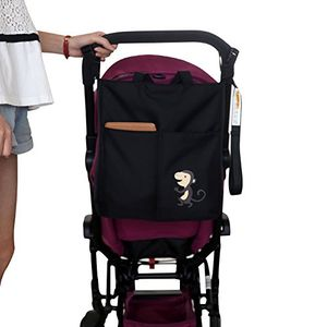 ofertas para - zeeupai bolsa bandolera para paderes organizador multifuncional para cochecito carro de bebé negro mono