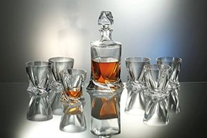 Top bohemia royal design whisky set 7 tlg karaffe 1000 ml 6 glässer je 410 ml