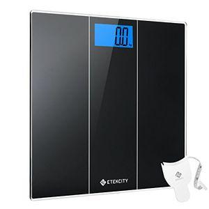 ofertas para - etekcity eb4074s báscula de baño digital de alta medición precisa 180kg400lbs balanza digital baño con gran plataforma báscula electrónica con lcd cinta métrica incluida cristal negro