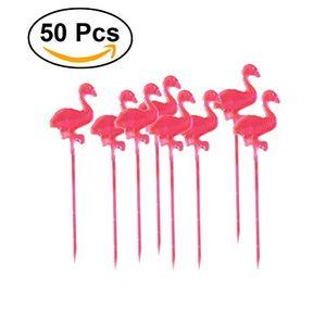 deals for - ounona 50pcs kreative flamingo partypicker frucht stöcke cupcake toppers für partei dekoration