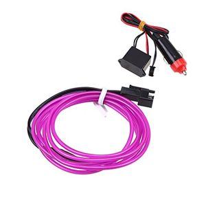 deals for - possbay el wire neon beleuchtung innenbeleuchtung 5m mit 12v inventer fuer auto weihnachtsfeiern halloween