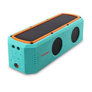 photos of Solar Bluetooth Lautsprecher, BANAROO 55 Stunden Spielzeit Tragbar Lautsprecher Dual Treiber HD Stereo Hervorragender Bass Sound Bluetooth 4.0 Wireless Lautsprecher Für Radfahren, Camping, Wandern, St (Green) Handbuch Kaufen   model Speakers
