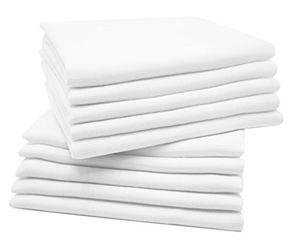 Reseña Zollner 10 muselinas para bebé, algodón 100%, 80x80 cm, blancas, perfectas para la higiene del bebé, serie Kiel guía del comprador