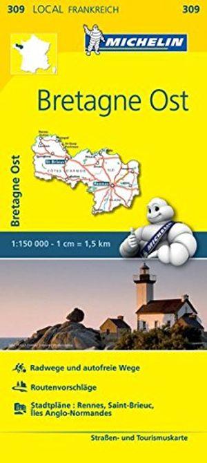 michelin bretagne ost straßen und tourismuskarte 1150000 michelin localkarten band 309