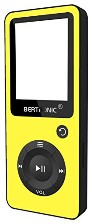 deals for - bertronic made in germany bc02 royal mp3 player 8 gb gelb bis 100 stunden wiedergabe radio portabler player mit lautsprecher audio player für sport mit micro sd karte silikonhülle