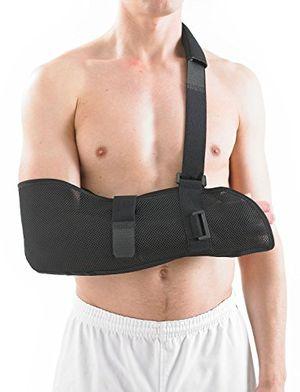 ofertas para - neo g cabestrillo de brazo transpirable calidad de grado médico tejido ligero transpirable ayuda a dar apoyo elevar el brazo inmovilizar el hombro rehabilitación tamaño universal unisex