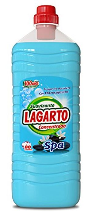 Top Lagarto Spa Suavizante CONCENTRADO 80 DOSIS para Ropa - Paquete de 6 x 2000 ml - Total: 12000 ml antes de compra