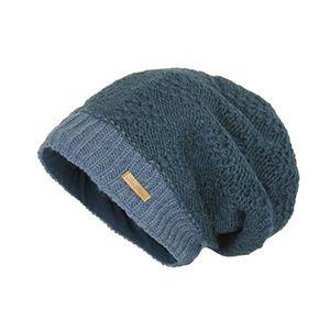 Angebote für -mcron wollmütze lina blau zweifarbig für damen beanie slouch strickmütze wintermütze warm gefüttert