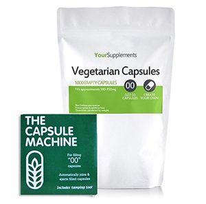 """Reseña Your Supplements - Capsule Machine Tamaño """"00"""" & Cápsulas vegetales Vacías, 1000 piezas Guía"""