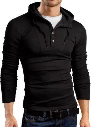Cheap grinbear slim fit hoodie kapuzenpullover langarm schwarz xl gb120