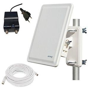 photos of Micro GL 800 Digitale DVB T2 Außenantenne Mit Verstärker Und Extra Abschirmung (64dB, VHF 32dB + UHF 32dB) + 10m Anschlußkabel Vor Dem Kauf Kaufen   model CE