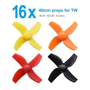 Hot betafpv 4 sets 40mm 4 blade micro whoop propellers with 10mm shaft for inductrix fpv plus kingkong tiny 7 etc
